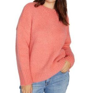 Sanctuary Telluride Sweater Winter Coral Slouchy M
